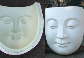 Impossible latex mold fiberglass buddha